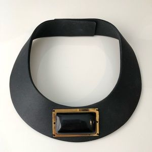 Marni Leather and Horn Choker